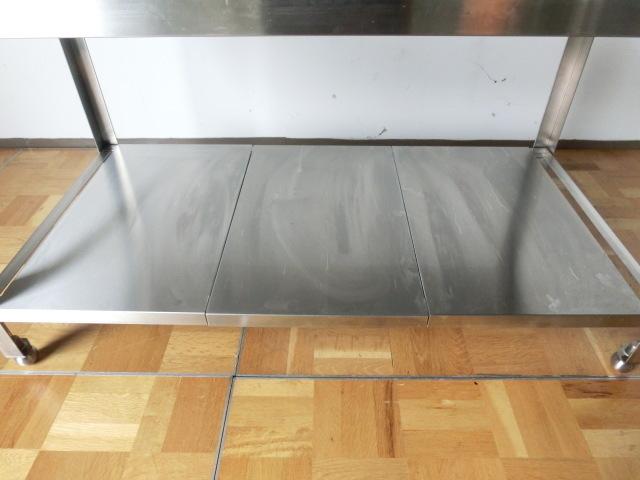 中古厨房 作業台 ガス台 W1200×D600×H650mm 調整脚(+20mm)_画像6