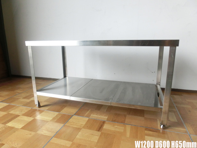 中古厨房 作業台 ガス台 W1200×D600×H650mm 調整脚(+20mm)_画像1