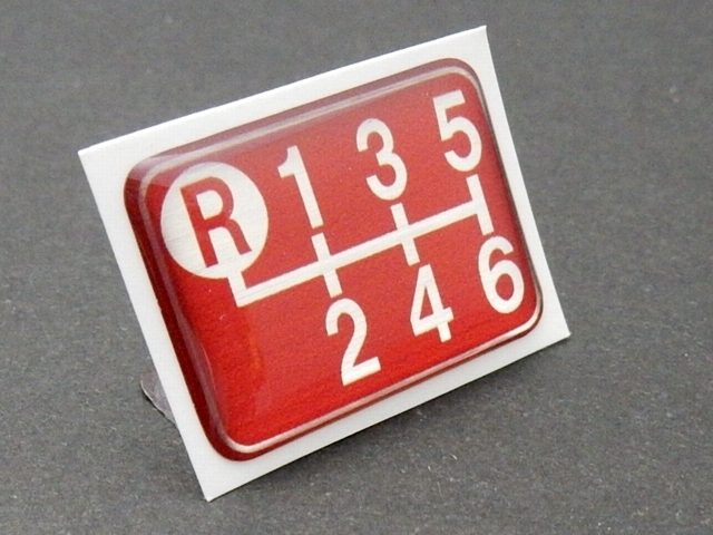 Tuningfan シフトパターン エンブレム レッド 左上R 6速MT車用 赤 SPE-R601 プレート 日本製 ZN6 ZZW30 DJLFS NDERC AE111 GTi R53 R56 JCW_画像7