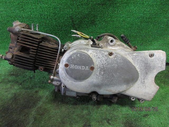 C100スーパーカブピノキオ純正部品取り修理ベースエンジン☆クランクキング、チェンジOK!検C105、102、2つ星吊りカブOHV_画像1