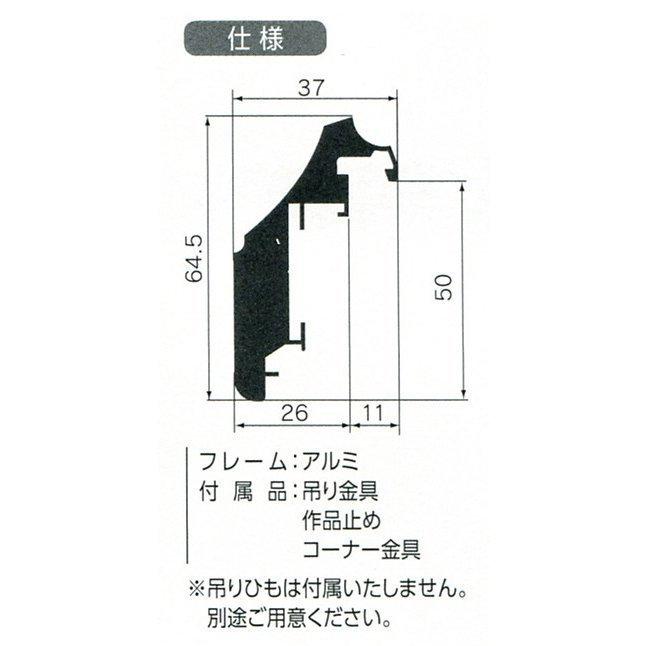 額縁 仮額縁 油絵額縁 油彩額縁 仮縁 アルミフレーム CD-44 サイズF50号_画像2