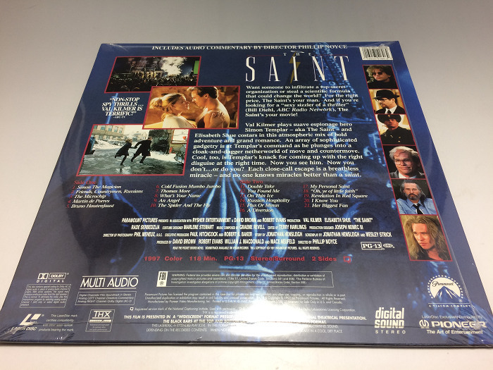 【未開封】The Saint セイント 輸入盤 ◆LD(レーザーディスク)_画像3