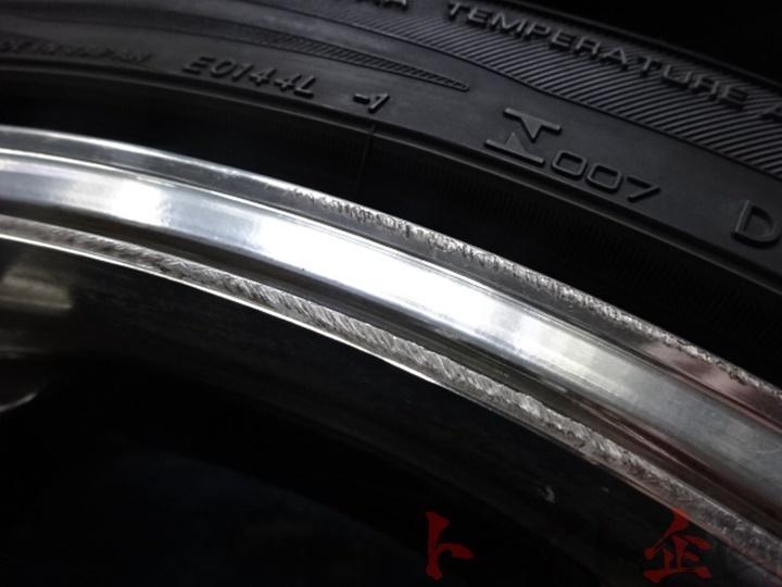 4264419 ヨコハマ アドバンレーシング RS-D 20インチ バリ山 アドバン 付き 元HKSデモカー Z33 トラスト企画_画像2