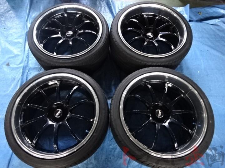 4264419 ヨコハマ アドバンレーシング RS-D 20インチ バリ山 アドバン 付き 元HKSデモカー Z33 トラスト企画_画像1