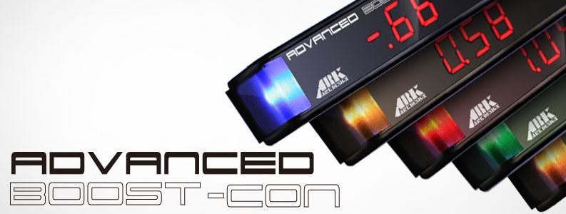 日本製 ブーストコントローラー ARK-DESIGN ABC 赤LED文字 ADVANCED BOOSTCONTROLLER ブーコン made in japan EVC SBC VVC AVC_画像4