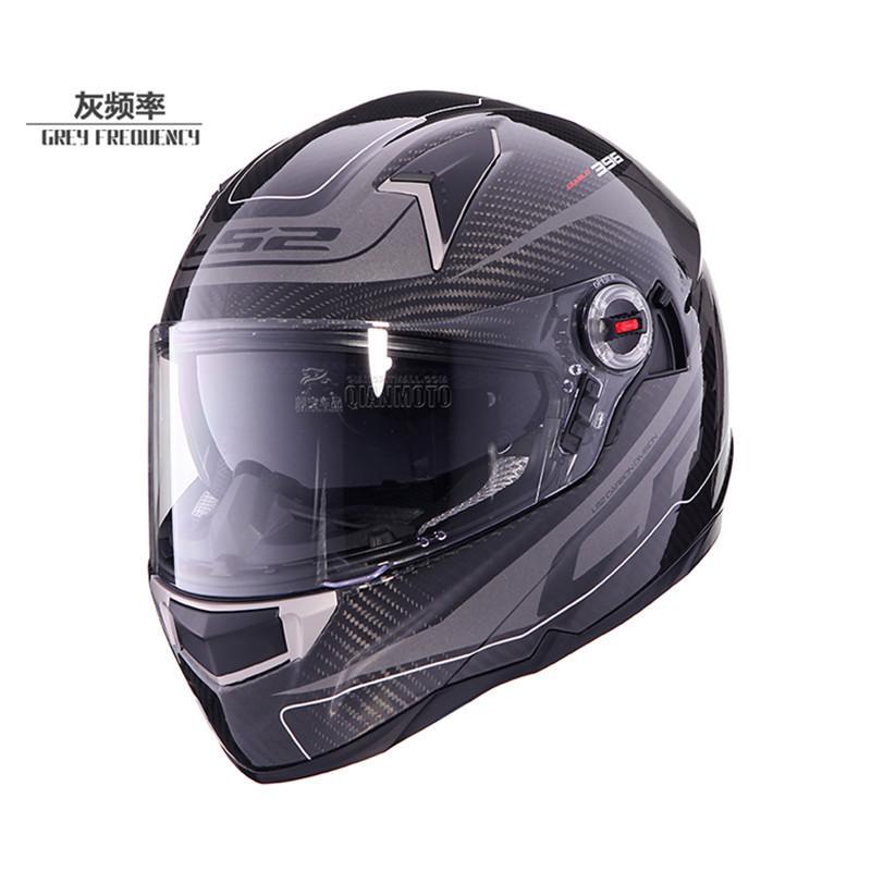 お得! Genunie LS2 ff396 carbon fiber full face motorcycle helmet dual visor airbags pump 100%_画像6