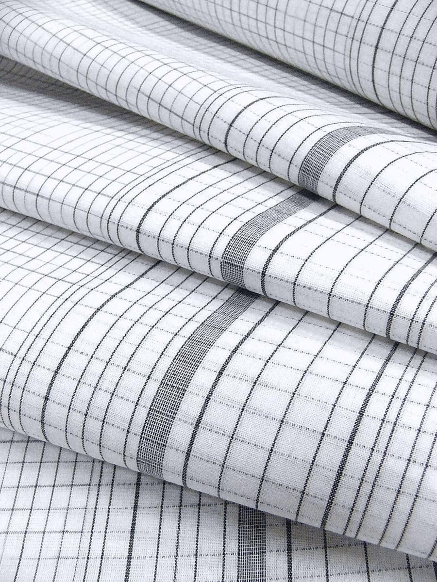わけあり品 日本製 綿・麻 織りのキングサイズ浴衣反物「綿麻上布」白色・変り格子 新品_画像6
