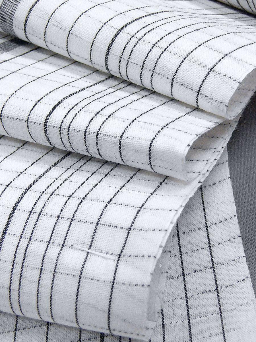 わけあり品 日本製 綿・麻 織りのキングサイズ浴衣反物「綿麻上布」白色・変り格子 新品_画像5