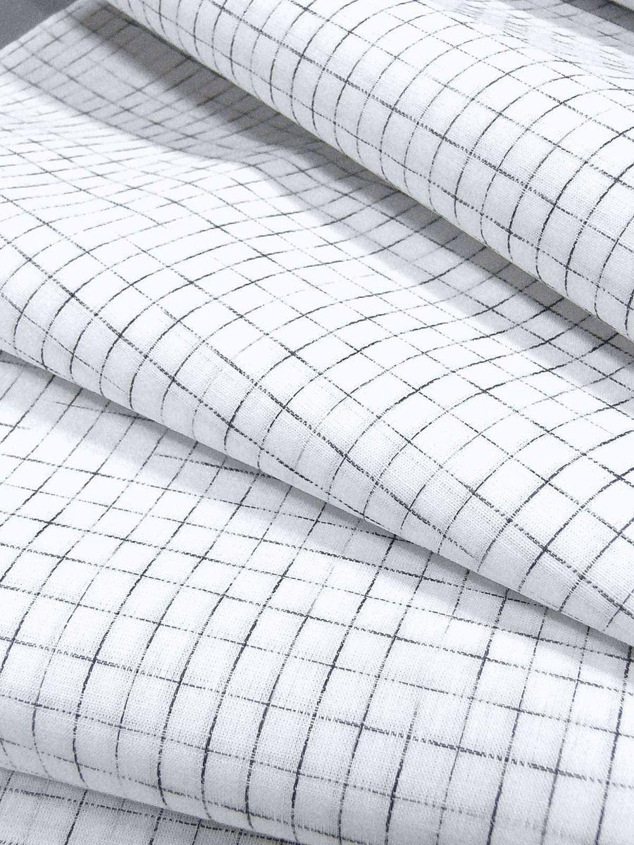 わけあり品 日本製 綿・麻 織りのキングサイズ浴衣反物「綿麻上布」白色・やぶれ格子 新品_画像6