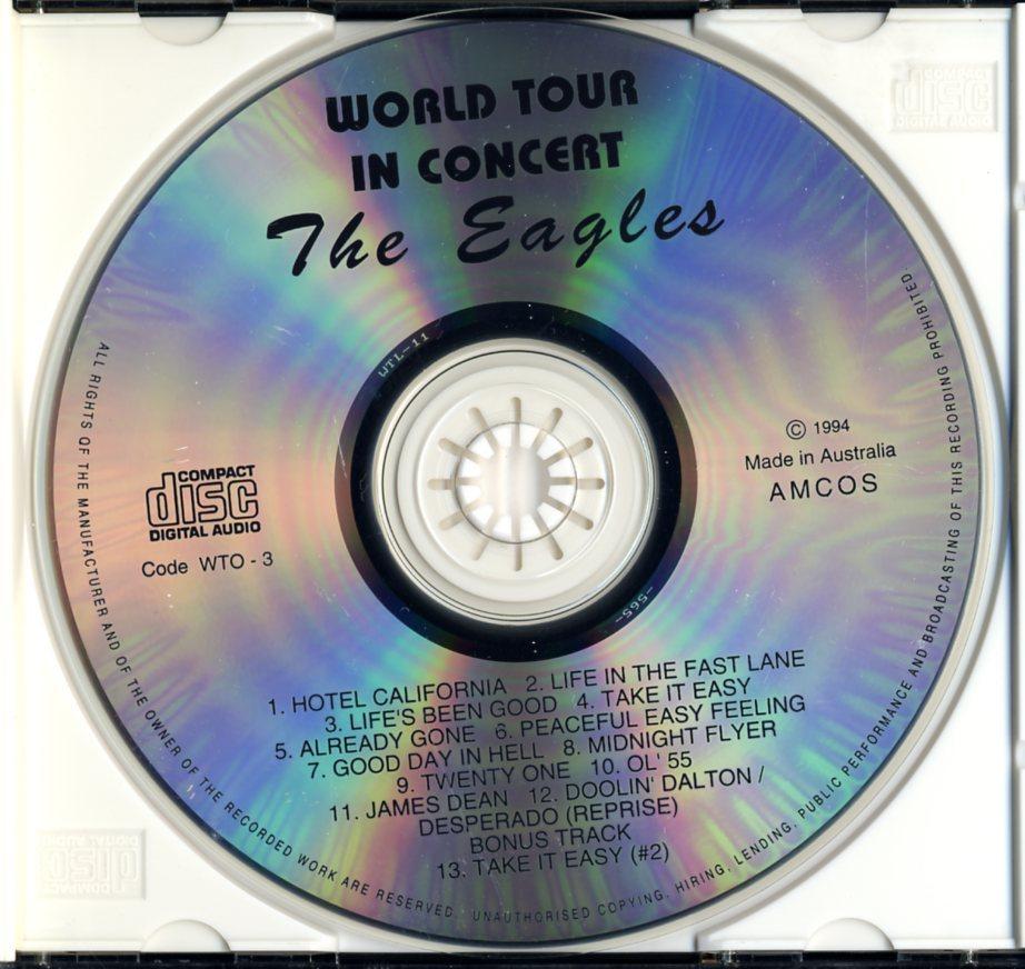 CD☆イーグルス / EAGLES / ワールド・ツアー・イン・コンサート / World Tour In Concert / WTO-3_画像3