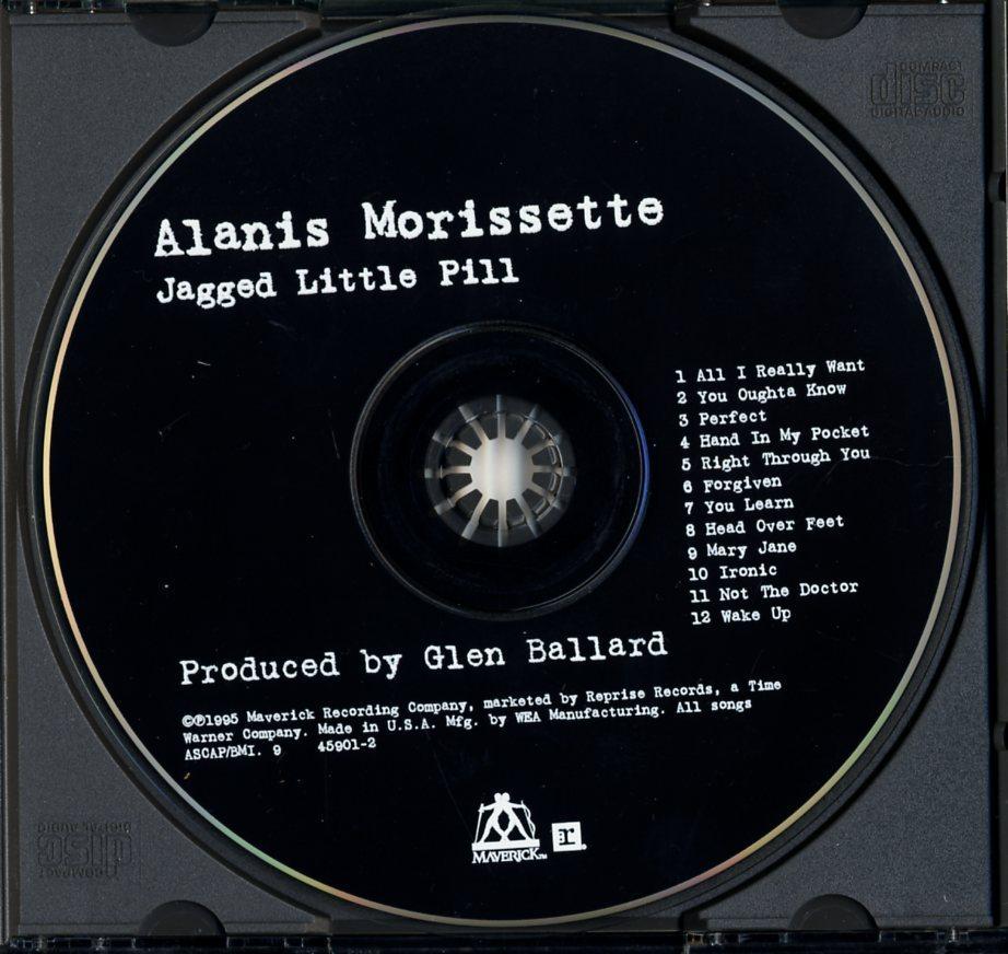 CD☆Alanis Morissette / Jagged Little Pill / 9 45901-2_画像3