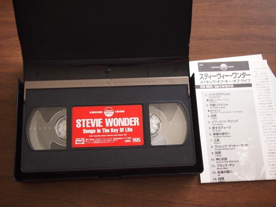 ★【VHS】スティーヴィー・ワンダー/メイキング・オブ・キー・オブ・ライフ_画像2