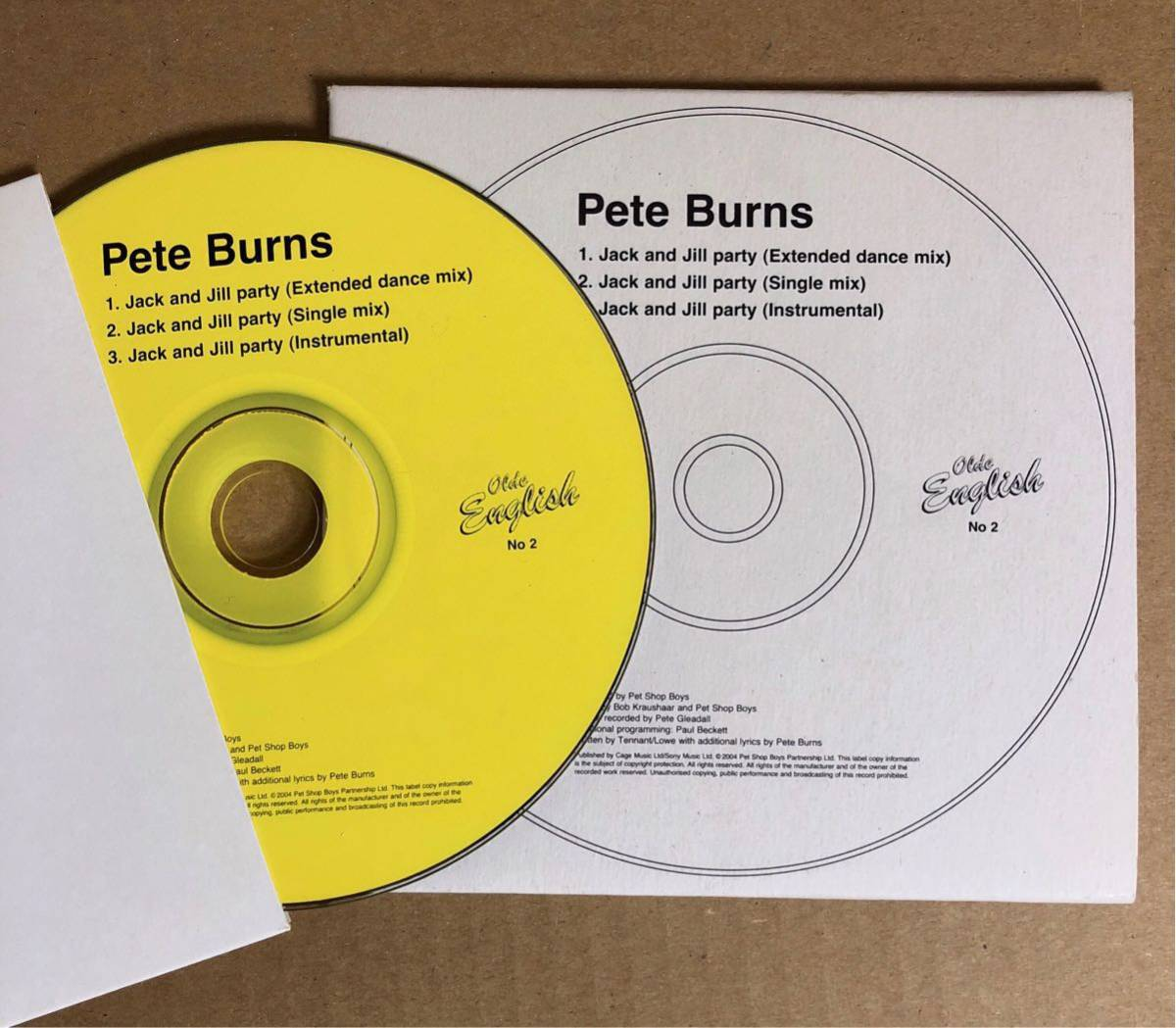 UK盤CDシングル Pete Burns (Dead Or Alive) JACK AND JILL PARTY (Pet Shop Boysプロデュース) ピート・バーンズ デッド・オア・アライヴ_画像2