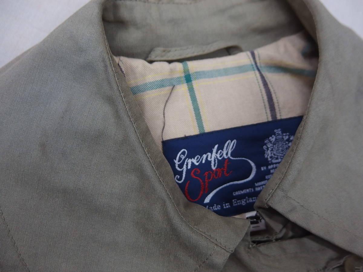 ☆高級 クリーニング済み 英国製 Grenfell グレンフェル トレンチコート 32 カーキ系 イギリス製 レディース☆_画像9