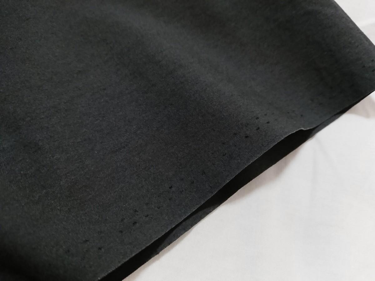 【未使用タグ付】AURALEE オーラリー★SELVEDGE WEATHER CLOTH HALF SLEEVE SHIRT オープンカラーシャツ A7SS02WC INK BLACK サイズ5★17SS_画像7