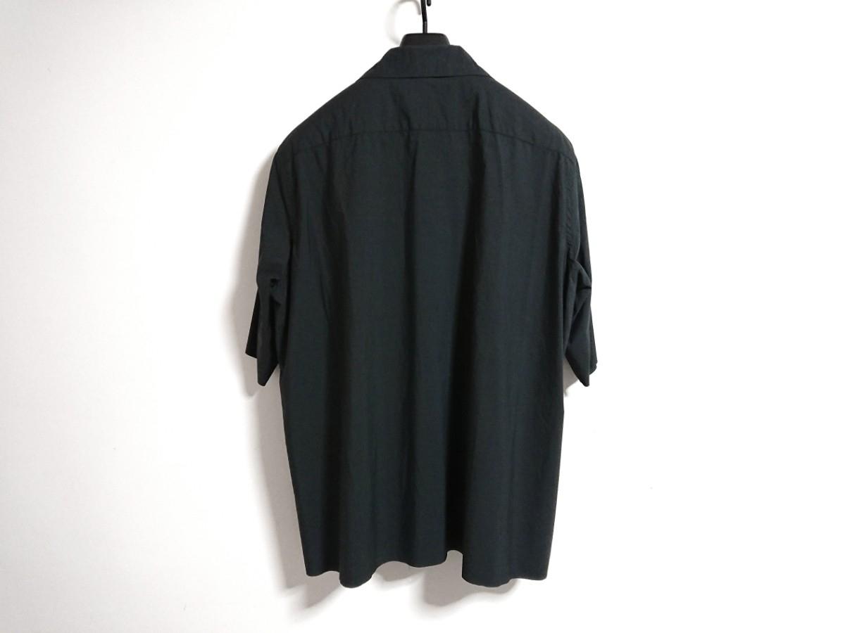 【未使用タグ付】AURALEE オーラリー★SELVEDGE WEATHER CLOTH HALF SLEEVE SHIRT オープンカラーシャツ A7SS02WC INK BLACK サイズ5★17SS_画像3