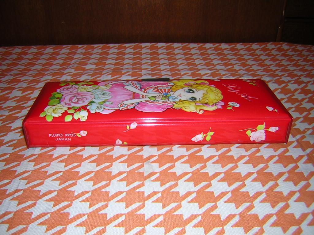 m070/昭和レトロ 可愛い女の子柄 筆箱 Lady Ann 2ドア 少女漫画 キャンディキャンディ風 乙女 _画像5
