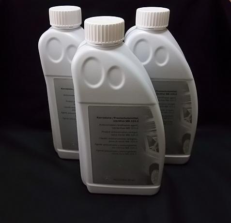 【限定特価】ベンツ純正 クーラント/冷却水 1.5Lボトル 3本セット 000989082510