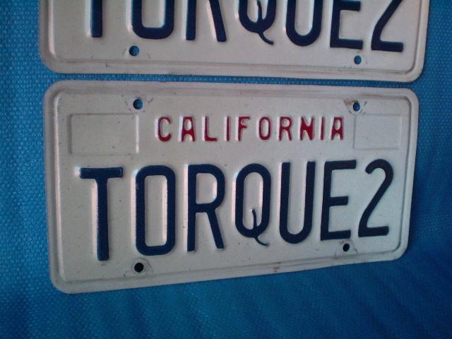 70s California ☆ TORQUE 2'ライセンスプレート Used' カルフォルニア ナンバープレート。ビンテージ。CalLooks VWs Kustom Hodrods_画像8