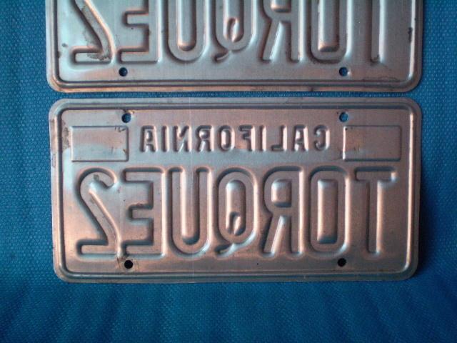 70s California ☆ TORQUE 2'ライセンスプレート Used' カルフォルニア ナンバープレート。ビンテージ。CalLooks VWs Kustom Hodrods_画像6
