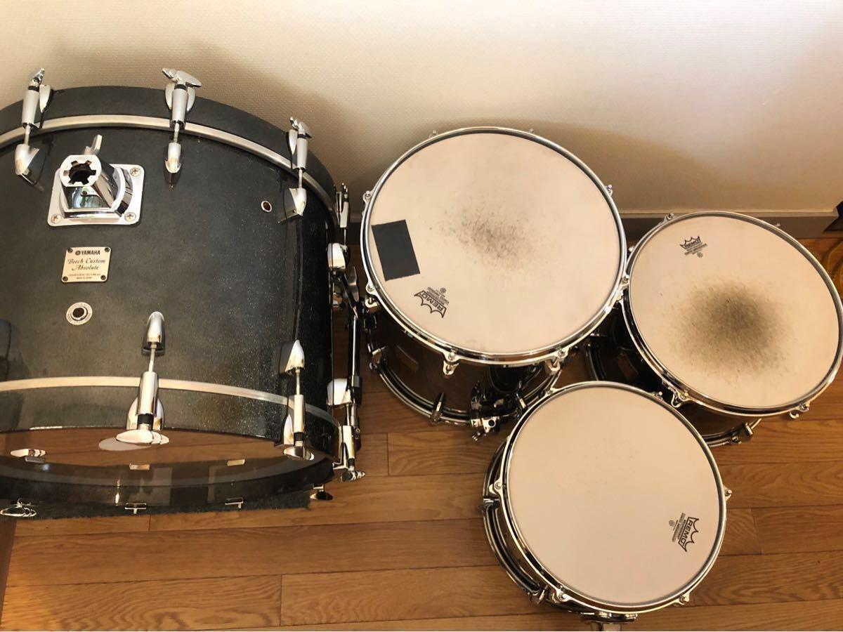 YAMAHA Beech Custom ドラムセット ハードケース付☆最落価格なし・売り切りです_画像6