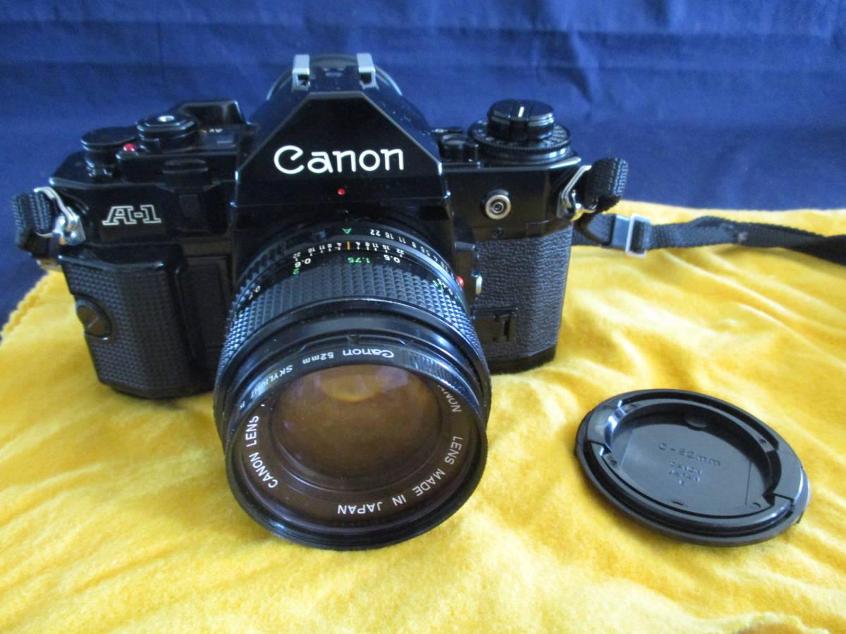 used品 シャッター鳴きあり Canon A-1 説明書 フラッシュ 別途レンズ付 mh_画像2