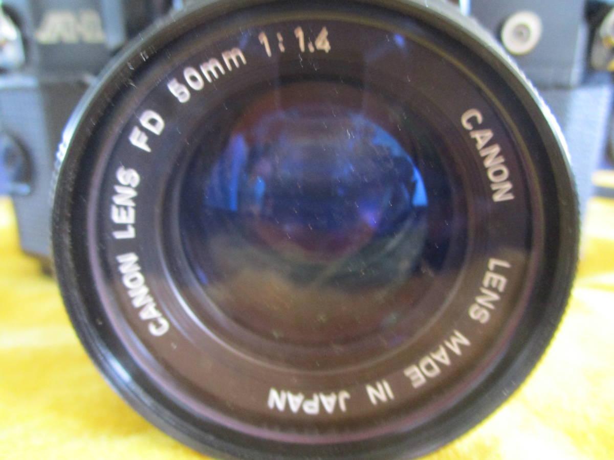 used品 シャッター鳴きあり Canon A-1 説明書 フラッシュ 別途レンズ付 mh_画像3