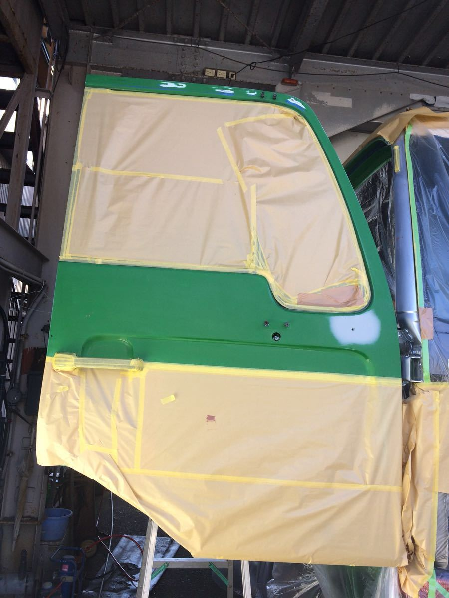 トラック ダンプ 鈑金 塗装 フロントバンパー リアバンパー ルーフ ドア フェンダー ボンネット ステップ 全塗装 最安値1万円~ 静岡市_画像5