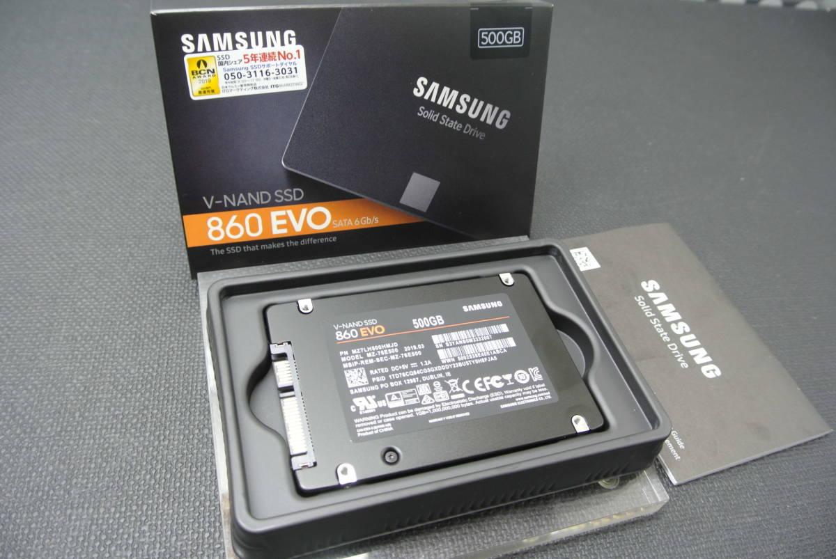 ★新品:SAMSUNG 860EVO:SSD:500GB 装填!!