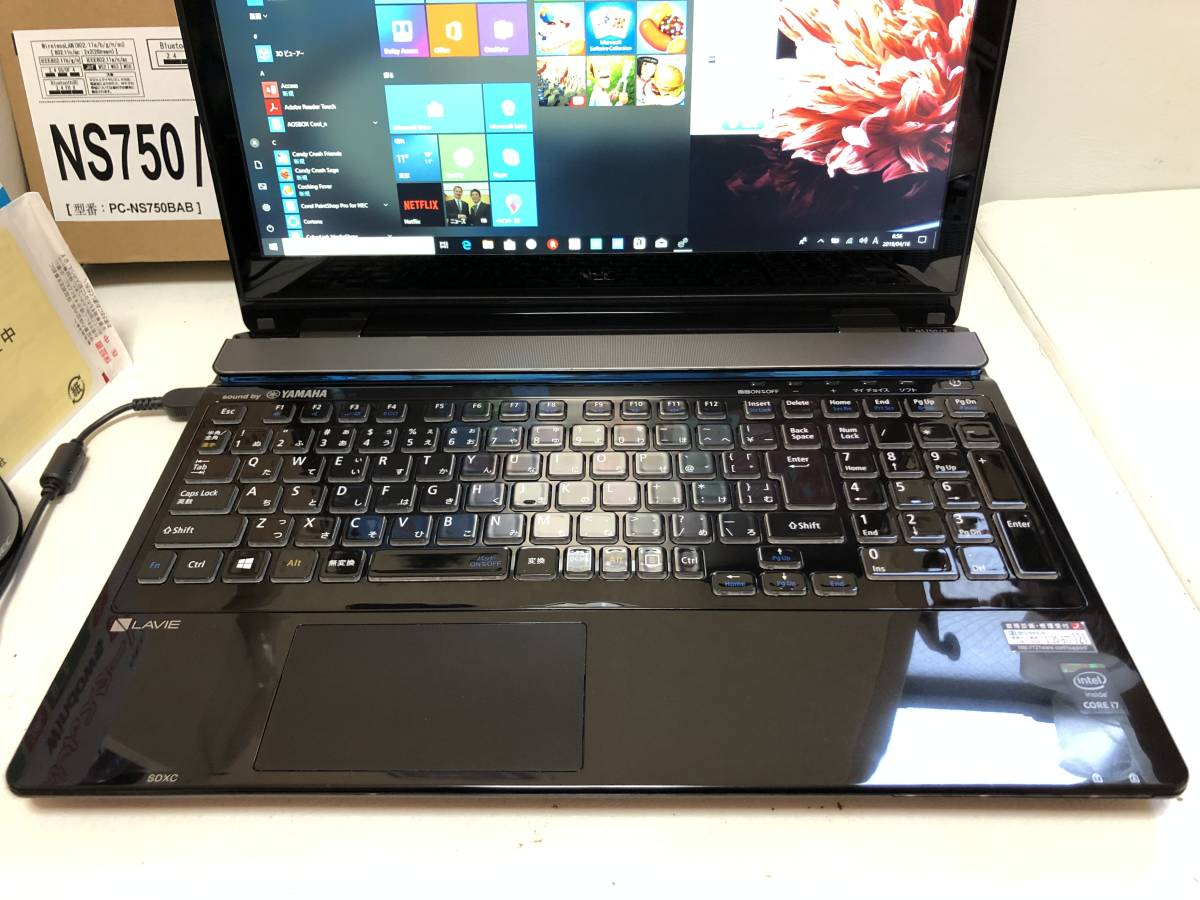 美品/2015年モデル/NEC/Lavie/NS750/BAB/PC-NS750BAB/Core i7-5500U 2.40GHz/8GB/新品SSD 640GB/FHD/OFFICE2019/タッチパネル/Windows10_画像3