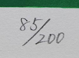 ■中島千波 【一心行の桜】 シルクスクリーン 直筆サイン 印章有り エディション有り _画像5