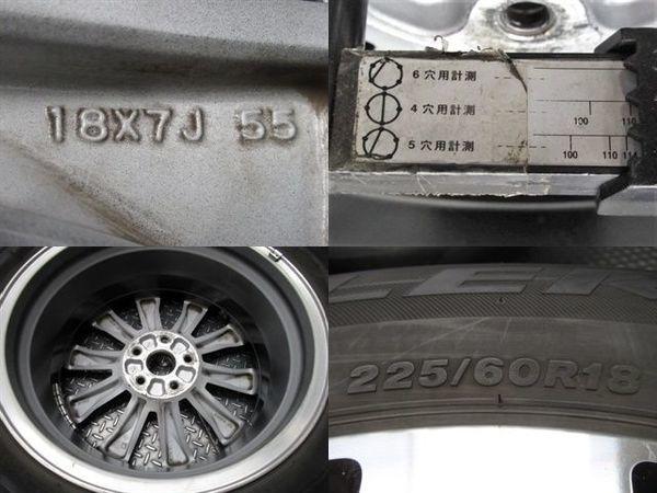 ●SUBARU スバル 純正 BS アウトバック 18インチ 7J +55 PCD 114.3 5H ホイール 225/60R18 BS デューラーH/P タイヤ付き 4本_画像2
