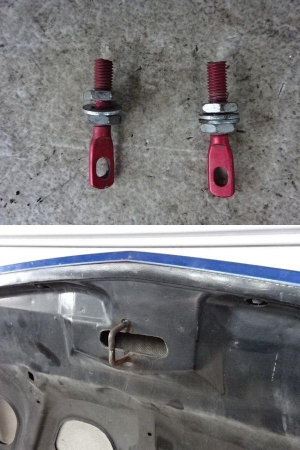 社外 CL7 アコードユーロR 前期 カーボン ボンネット フード 青メタ系 ボンピン&ストライカー 共用仕様 ヒンジ付き_ボルト付き