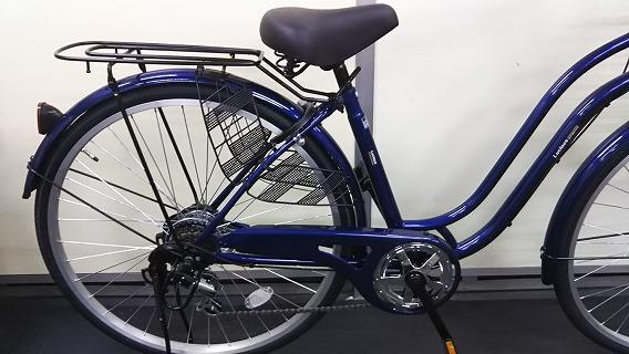 ☆アウトレット 自転車☆26インチ 濃青 シマノ製外装6段変速 LEDオートライト_画像2