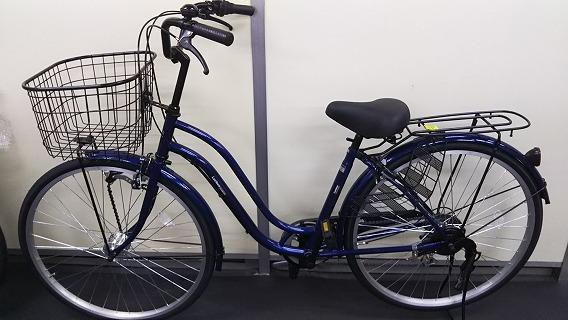 ☆アウトレット 自転車☆26インチ 濃青 シマノ製外装6段変速 LEDオートライト_画像6