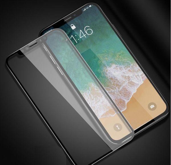 【Xフィルム】☆強硬度9H 強化ガラスフィルム☆ iPhone X XS 高透過率 液晶保護フィルム 全面保護 気泡指紋防止 クリーナー_画像1