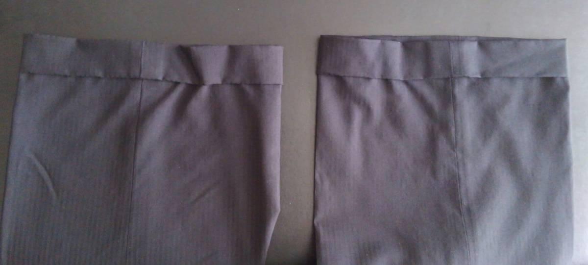 現品:裾は2.5cmダブル(ホック止め)です