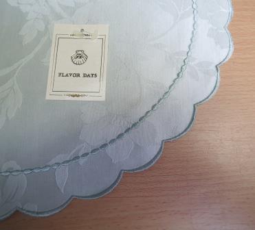 未使用品◆FLAVOR DAYS ブルーミング中西◆ヴィクトリアフラワー柄 テーブルマット 4枚セット/グリーン/サイズ約20×30cm_画像4