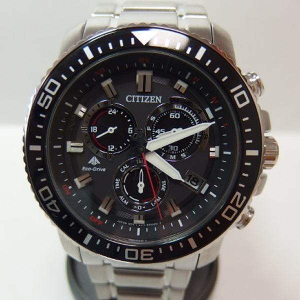 未使用品 シチズン「CITIZEN」エコドライブ ECO DRIVE/ソーラー電波 BLK E610-S062926 メンズ腕時計