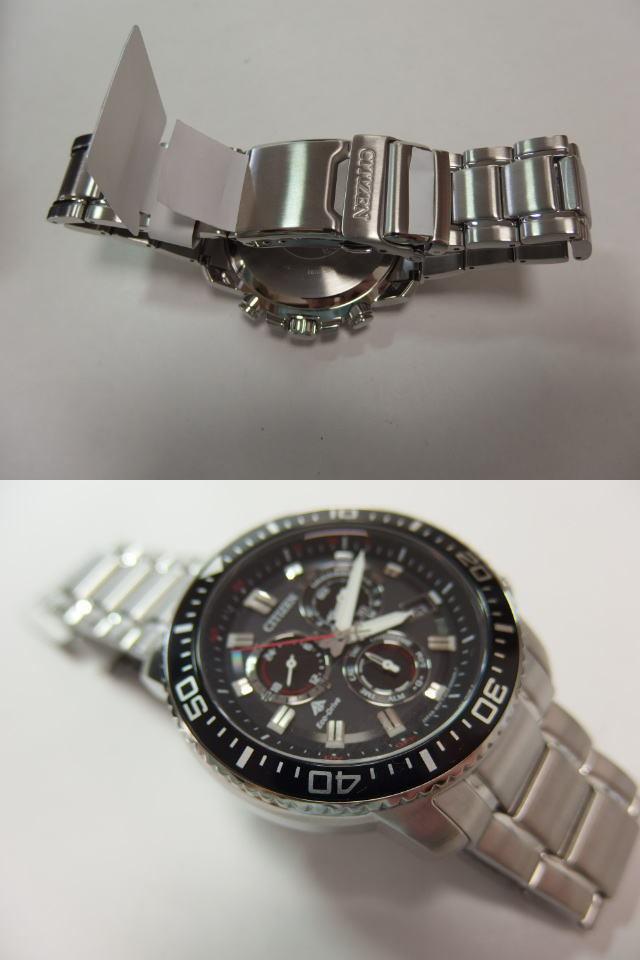 未使用品 シチズン「CITIZEN」エコドライブ ECO DRIVE/ソーラー電波 BLK E610-S062926 メンズ腕時計_画像2