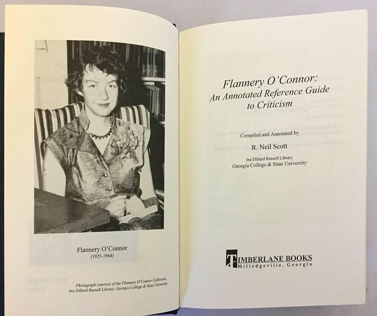 【洋書】 フラナリー・オコナー: 批評への注釈付き参照ガイド 『Flannery O'Connor: an annotated reference guide to criticism』●米文学_画像2