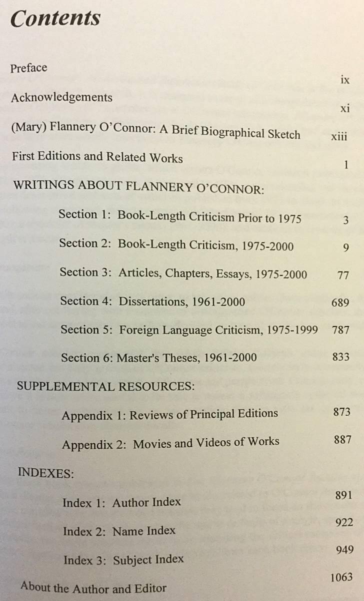 【洋書】 フラナリー・オコナー: 批評への注釈付き参照ガイド 『Flannery O'Connor: an annotated reference guide to criticism』●米文学_画像3