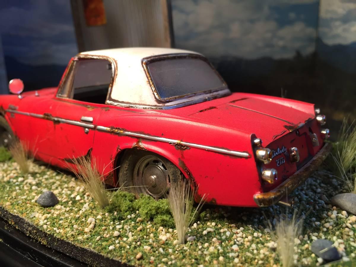 1/24 ダットサン フェアレディ 2000 昭和の風景 旧車 自作ジオラマ完成品 ケース付_画像5