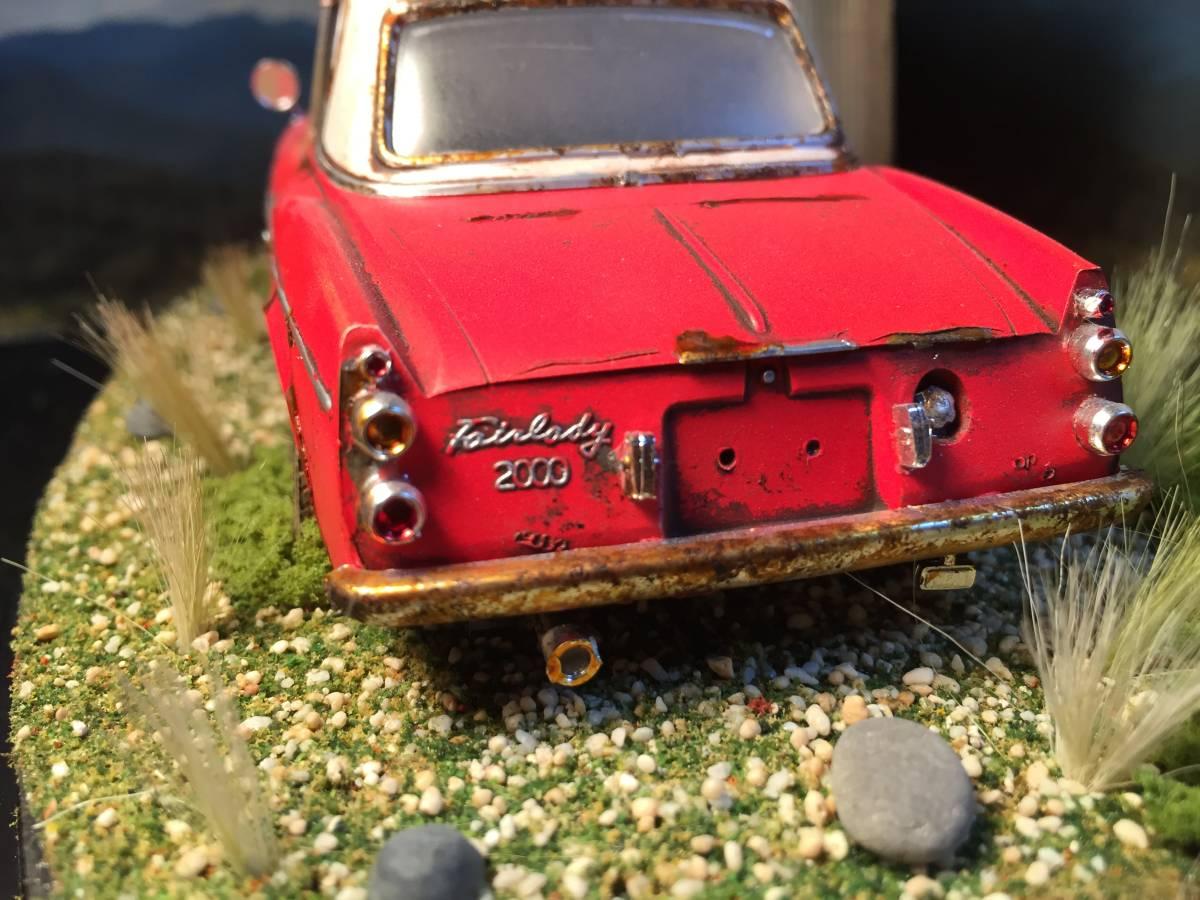 1/24 ダットサン フェアレディ 2000 昭和の風景 旧車 自作ジオラマ完成品 ケース付_画像6