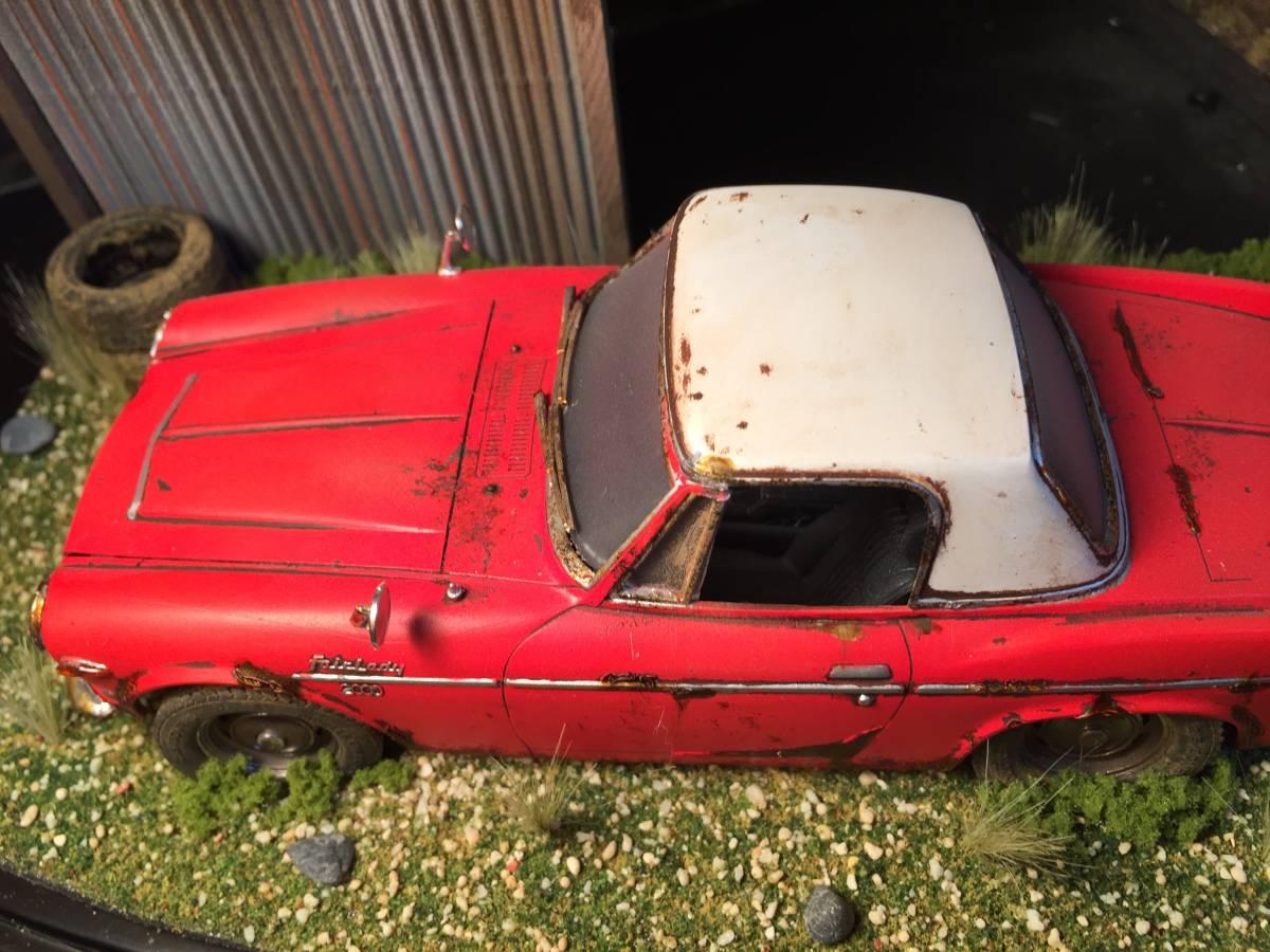 1/24 ダットサン フェアレディ 2000 昭和の風景 旧車 自作ジオラマ完成品 ケース付_画像7