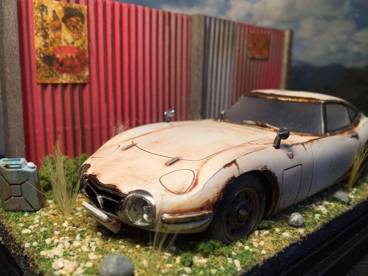 1/32 トヨタ 2000GT 昭和の風景 旧車 自作ジオラマ完成品 ケース付