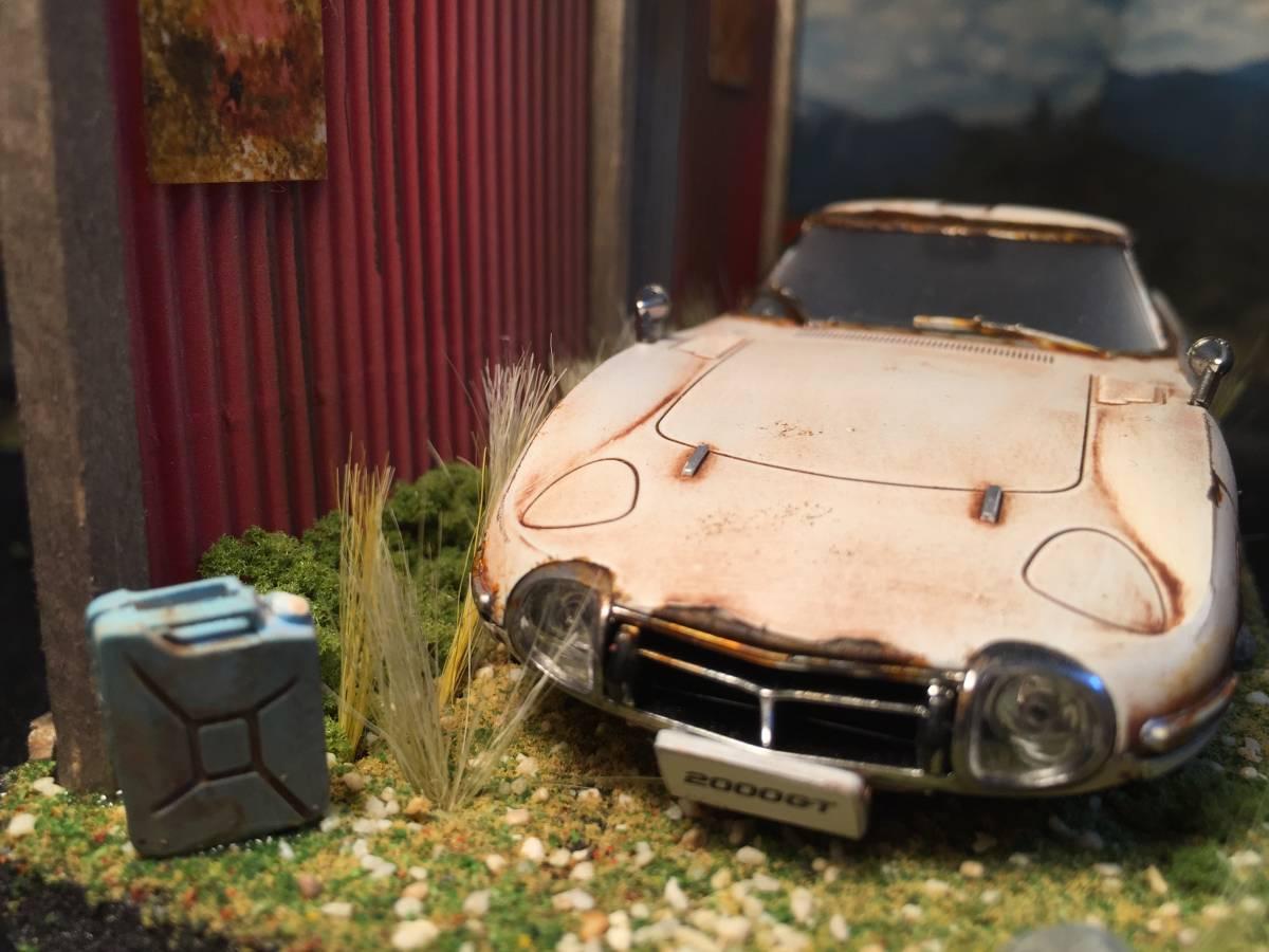 1/32 トヨタ 2000GT 昭和の風景 旧車 自作ジオラマ完成品 ケース付_画像2