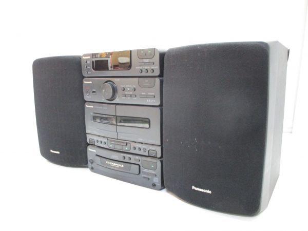 □パナソニック システムコンポ SA-CH310G スピーカー SB-CH310 6361 高音質 A-1□