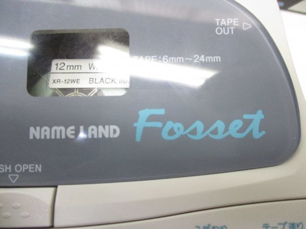 △CASIO カシオ ネームランド フォセット KL-H20 専用ケース,テープ付き A2 △_画像10