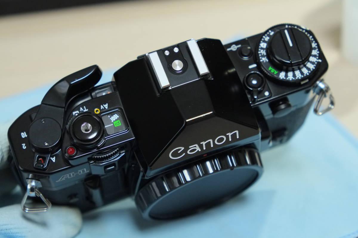 動作品 Canon フィルム一眼レフ A-1 モータードライブMA レンズ3本_画像3